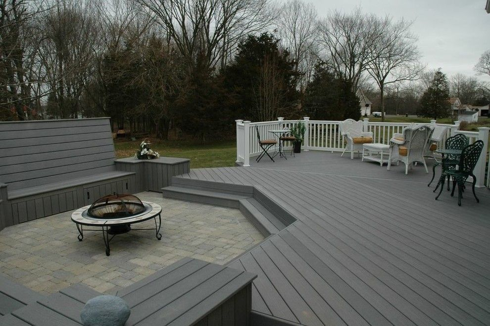 Lowes Bloomfield Ct for a Traditional Deck with a Central Connecticut Custom Outdoor Desig and Unique Deck and Patio Combination Design in Middletown, Ct by Archadeck of Central Connecticut