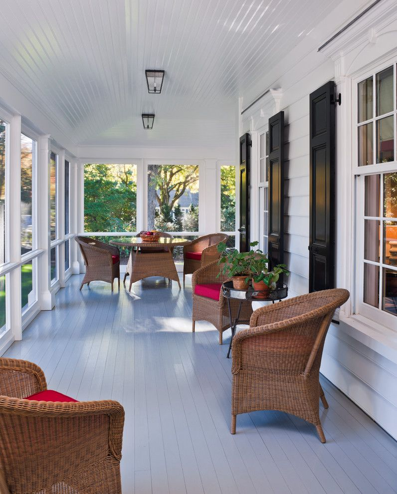 Lowes Bloomfield Ct for a Traditional Porch with a Ceiling Lights and New House   Fairfield, Ct by Peter Zimmerman Architects