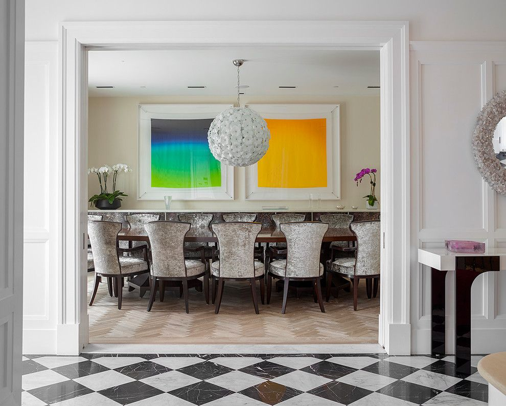 Lowes Brooklyn for a Contemporary Dining Room with a White Trim and Brooklyn Townhouse by Robert Granoff