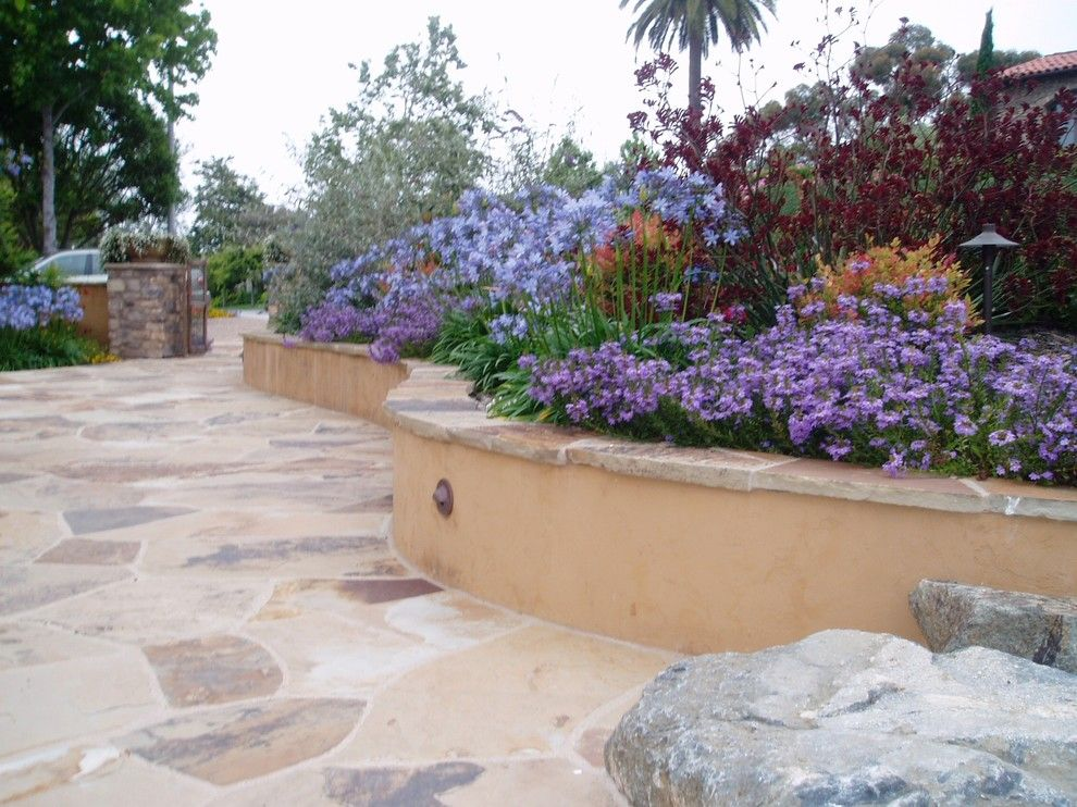 Lowes Carlsbad for a Mediterranean Patio with a Cameron Flagstone Cap and Design Build: Carlsbad Tuscan Colors by the Design Build Company