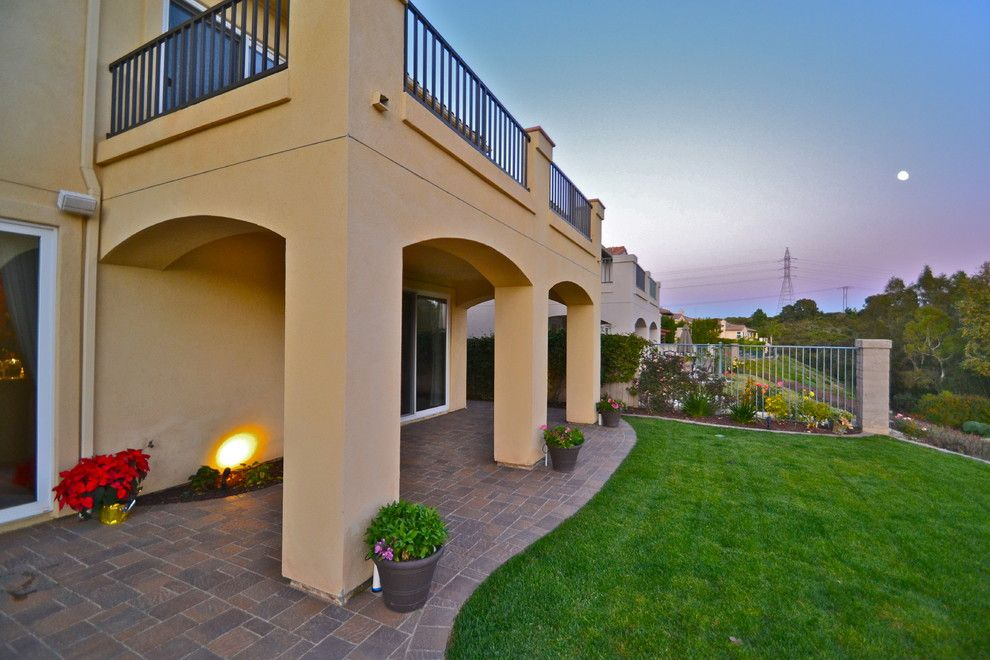Lowes Carlsbad for a Transitional Spaces with a Sod and Carlsbad 92011 Flagstone Firepit with Patio and Golf Course Views by California Smartscape