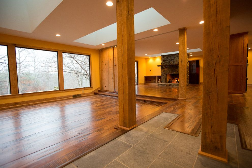 Lowes Charlottesville for a Rustic Living Room with a Oak and Thrashers Creek by Hauscraft | Architect Led Design Build