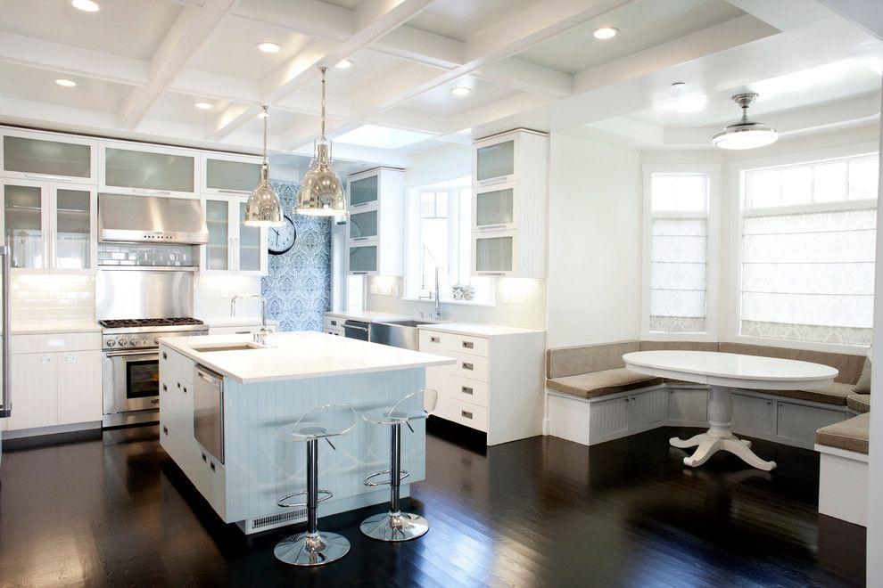 Lowes Chesapeake Va for a Contemporary Kitchen with a Lucite Bar Stools and Alvarado, Los Altos by Bay Area Design Build, Inc.