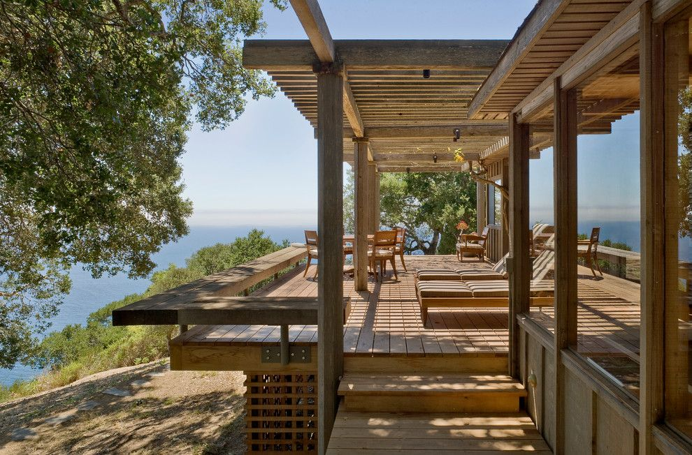 Lowes Chesapeake Va for a Rustic Deck with a Lounge Chairs and Big Sur Cabin by Studio Schicketanz