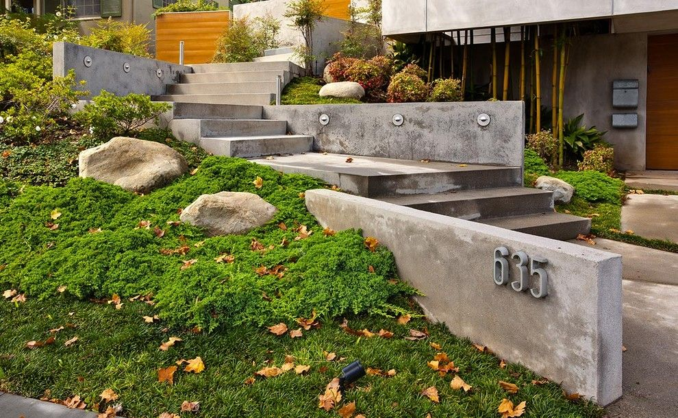 Lowes Chino Hills for a Contemporary Landscape with a Steps to Entry and Entry Steps to Hillside Home by Mgs Architetcure by Magdalena & Mgs Architecture