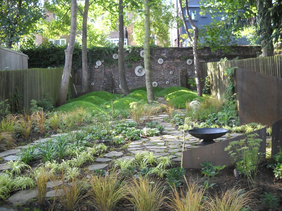 Lowes Chino Hills for a Eclectic Landscape with a Fire Bowls and Crouch End Garden Design by London Garden Designer