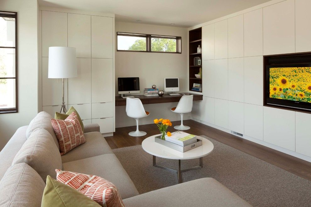Lowes Chino Hills for a Modern Family Room with a Storage and Linden Hills Contemporary by Andrea Swan - Swan Architecture