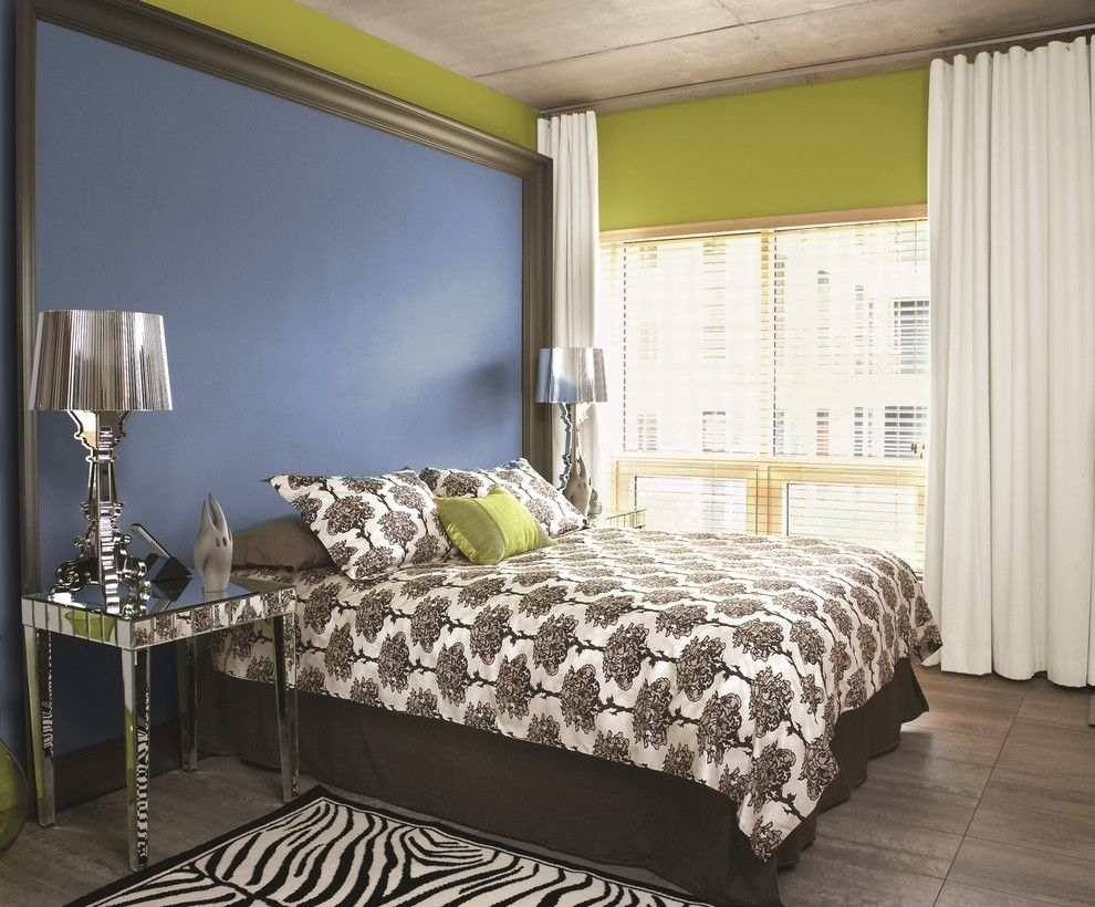 Lowes Colorado Springs for a Contemporary Bedroom with a Zebra Rug and Ppg Pittsburgh Paints by Ppg Architectural Coatings