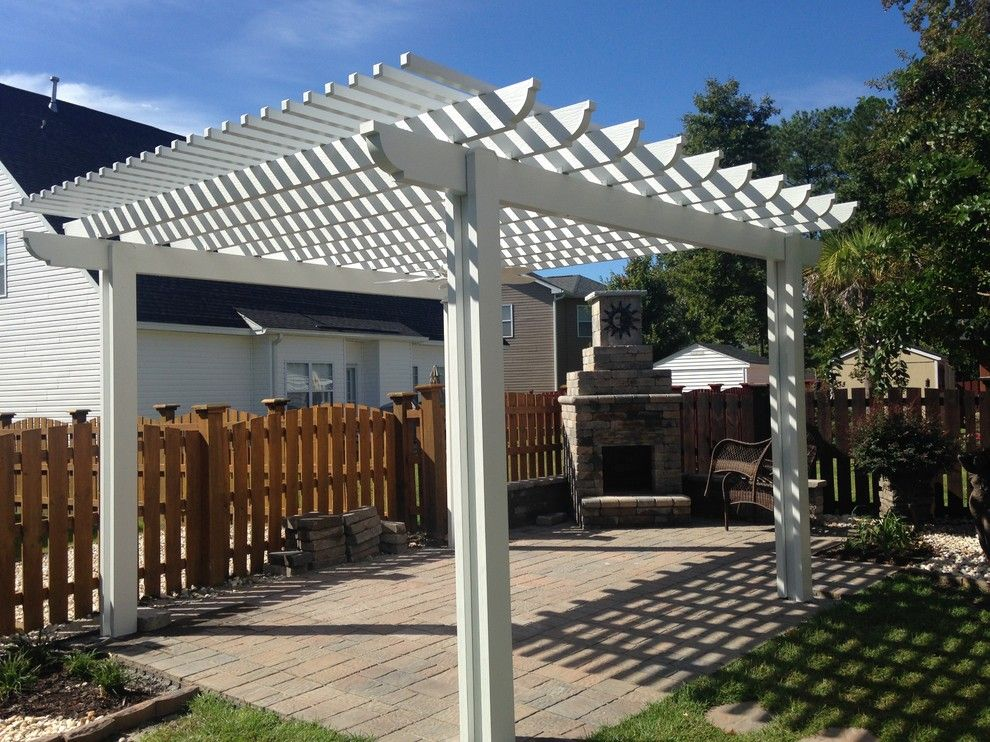 Lowes Columbia Sc for a Eclectic Spaces with a Archadeck of Central Sc and Low Maintenance Pergola in Blythewood, SC. by Archadeck of Central South Carolina