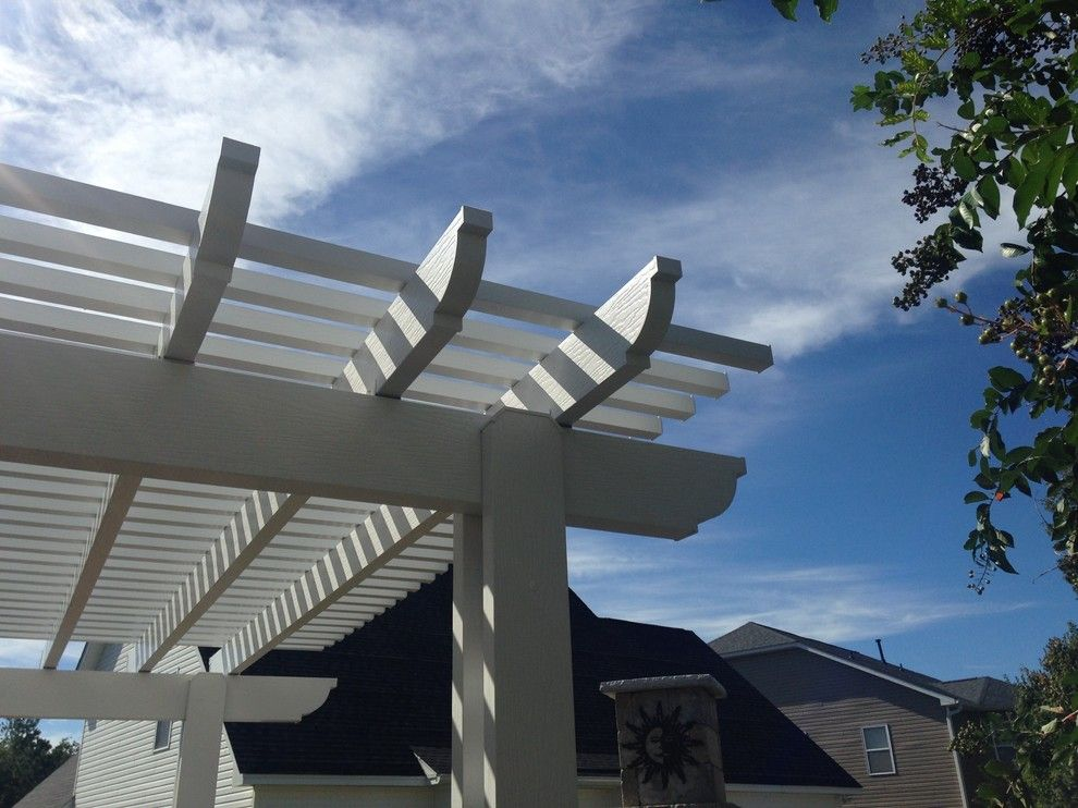 Lowes Columbia Sc for a Eclectic Spaces with a Blythewood Pergola Builder and Low Maintenance Pergola in Blythewood, SC. by Archadeck of Central South Carolina