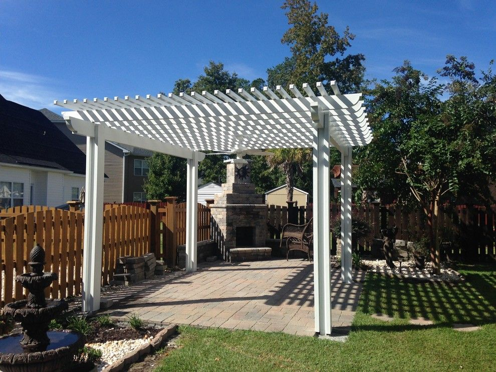 Lowes Columbia Sc for a Eclectic Spaces with a Central Sc Outdoor Living Space Designs for Shade and Low Maintenance Pergola in Blythewood, Sc. by Archadeck of Central South Carolina