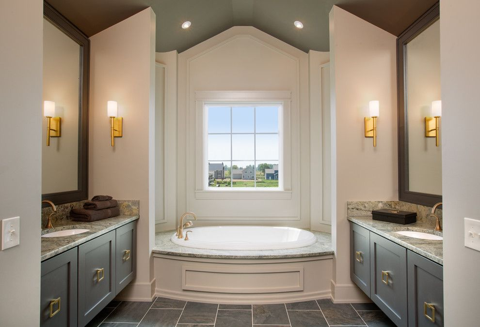 Lowes Columbus Ga for a Transitional Bathroom with a Gold and Jerome Village Lot 125 by Romanelli & Hughes Custom Home Builders
