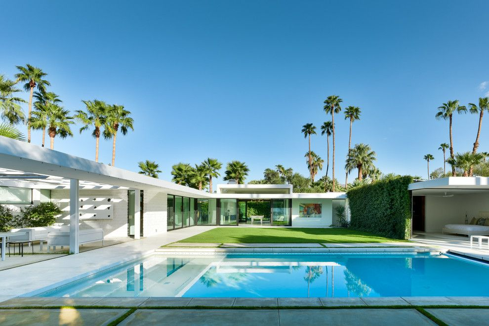 Lowes Conway Ar for a Midcentury Pool with a Mid Century Modern and the Lost Krisel by Studio AR+D Architects
