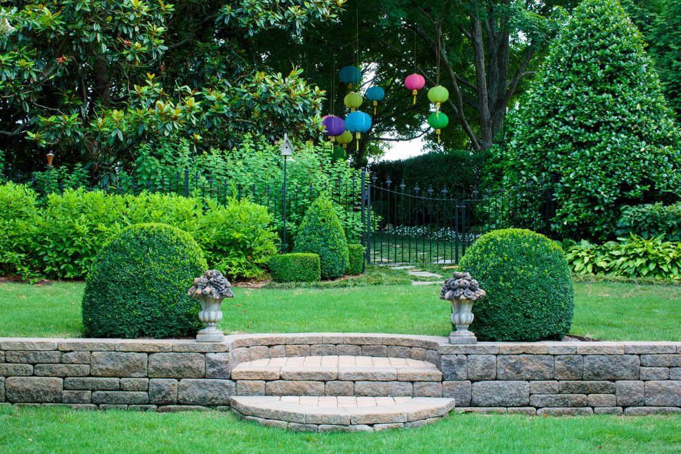 Lowes Crossville Tn for a Mediterranean Landscape with a Stone Garden Border and Casa Real // Knoxville, Tn for Todd Richesin Interiors by Finch Photo