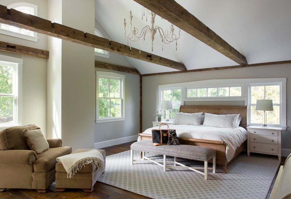 Lowes Cumming Ga for a Farmhouse Bedroom with a Pine Flooring and Lynnfield Farmhouse by Cummings Architects