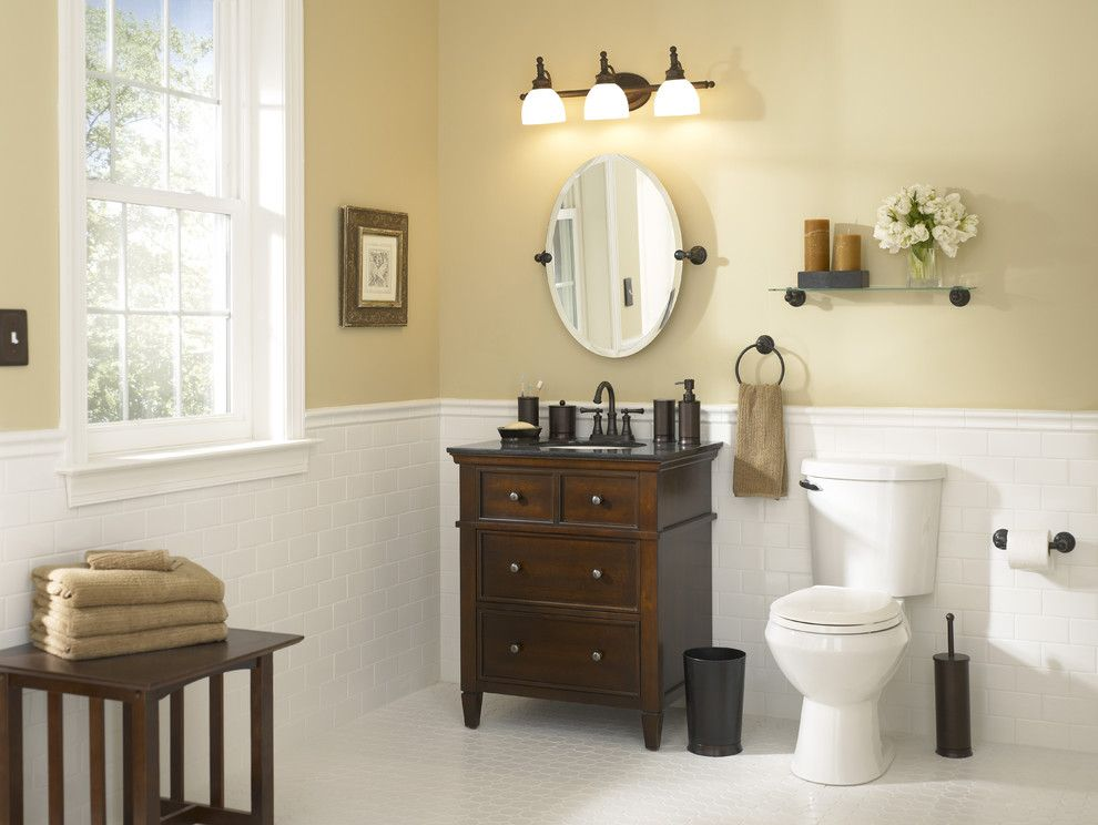 Lowes Cumming Ga for a Traditional Bathroom with a Espresso Vanity and Timeless Bath with Modern Touches by Lowe's Home Improvement