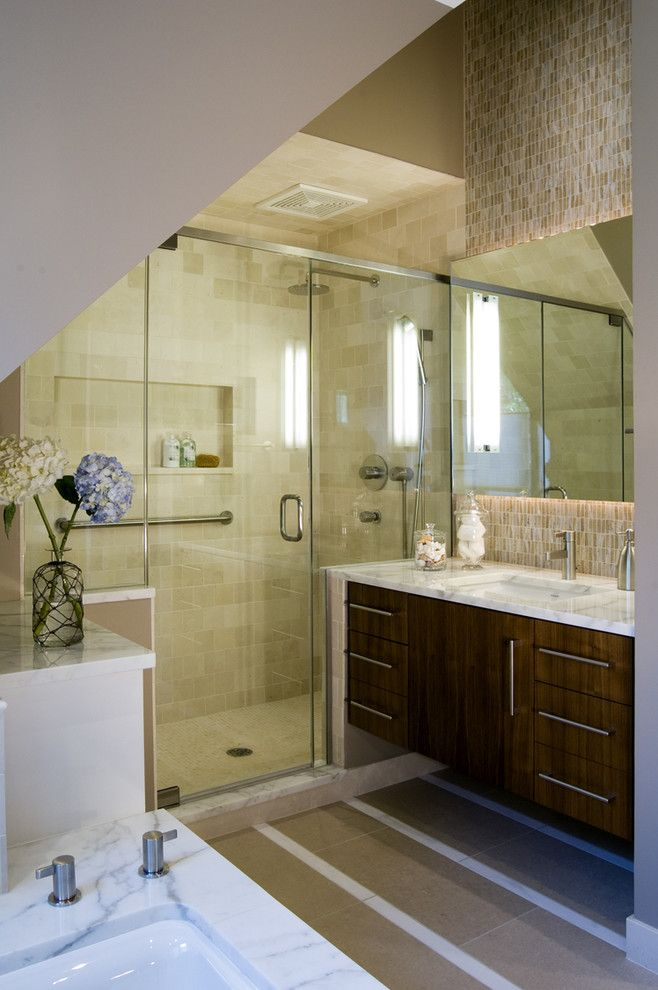 Lowes Eatontown Nj for a Contemporary Bathroom with a Bathroom Hardware and Ukrainian Village Master Bath by Claudia Martin, Asid