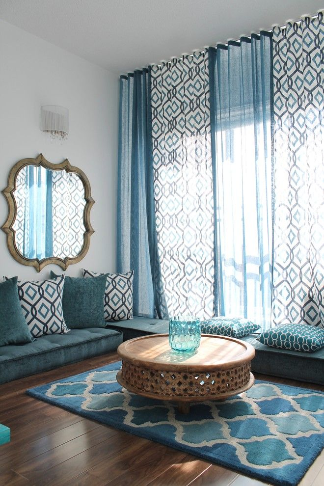 Lowes Eatontown Nj for a Mediterranean Living Room with a Framed Mirror and Moroccan Inspired Condo (2013) by Rmi   Rebecca Mitchell Interiors