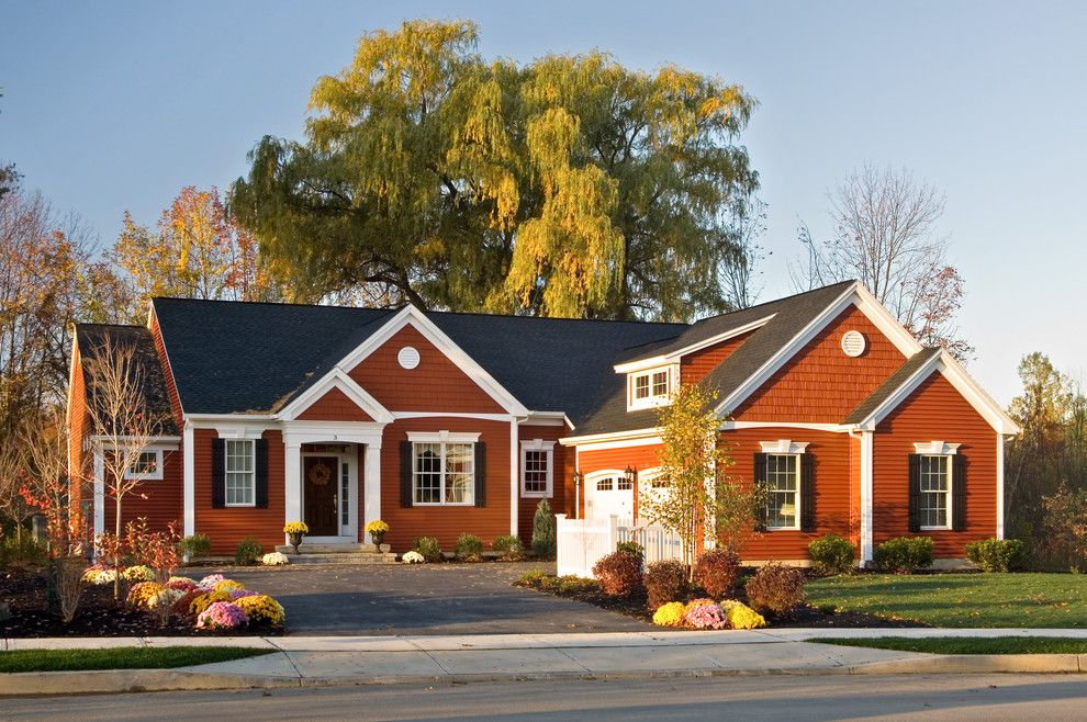 Lowes Eatontown Nj for a Traditional Exterior with a Red Exterior and 2008 Saratoga Showcase Home by Belmonte Builders