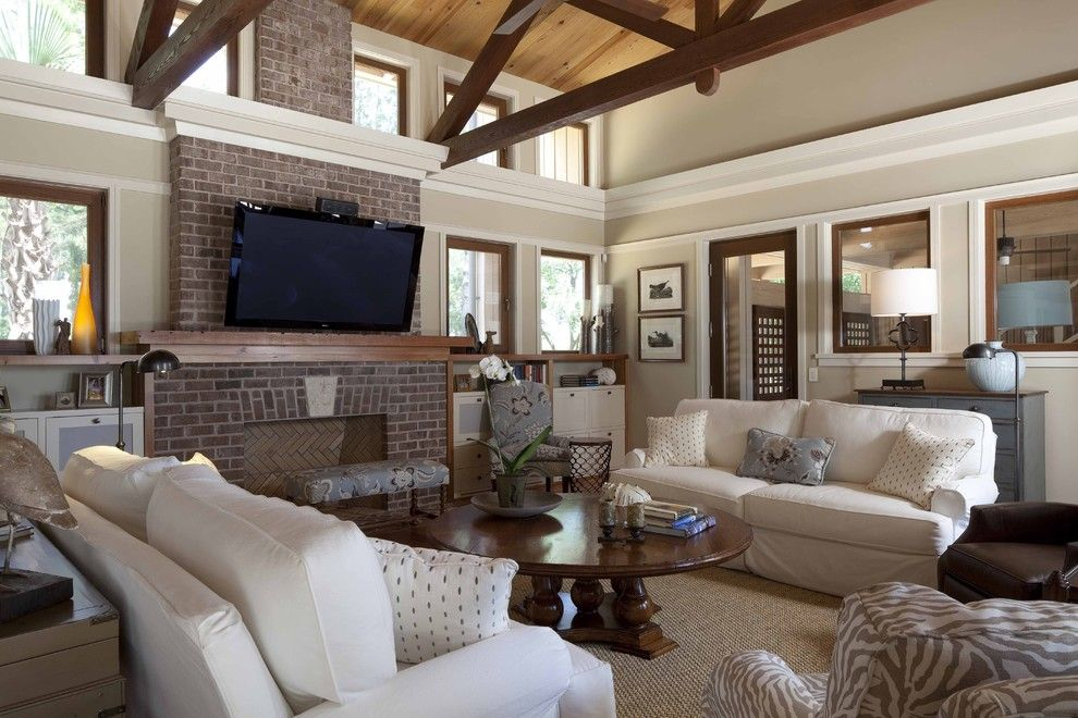 Lowes Frederick Md for a Contemporary Living Room with a Beams and Living Room by Frederick + Frederick Architects