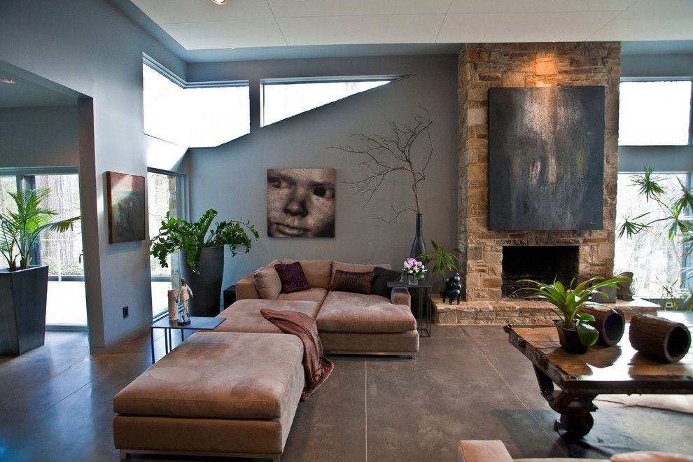 Lowes Frederick Md for a Contemporary Living Room with a Hearth and Turner Residence Baltimore Md by Turner Design Firm