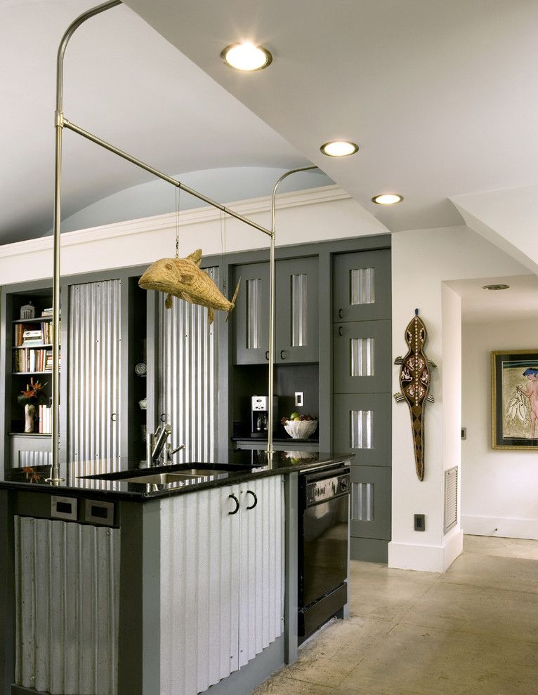 Lowes Frederick Md for a Industrial Kitchen with a Unusual Cabinets and Quonset Hut Kitchen by Frederick + Frederick Architects