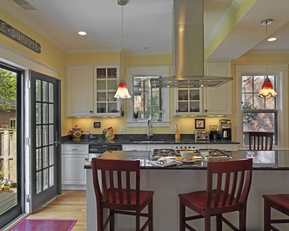 Lowes Frederick Md for a Traditional Kitchen with a White Cabinets and Kitchen & Addition by David Vogt   Case Design/remodeling Inc.