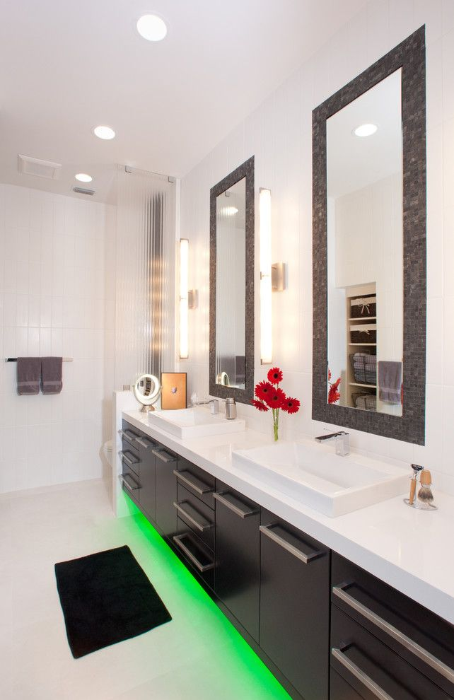 Lowes Gainesville for a Contemporary Bathroom with a Wall Lighting and Gainesville by Busby Cabinets