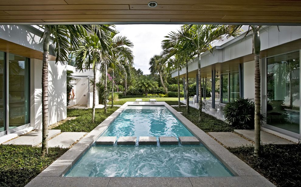 Lowes Gainesville for a Modern Pool with a Concrete Pavers and Balfoort Architecture, Inc. by Balfoort Architecture, Inc.