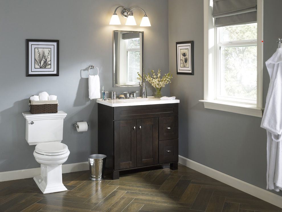 Lowes Holmdel Nj for a Traditional Bathroom with a Traditional and Traditional Bath with an Elegant Vanity by Lowe's Home Improvement