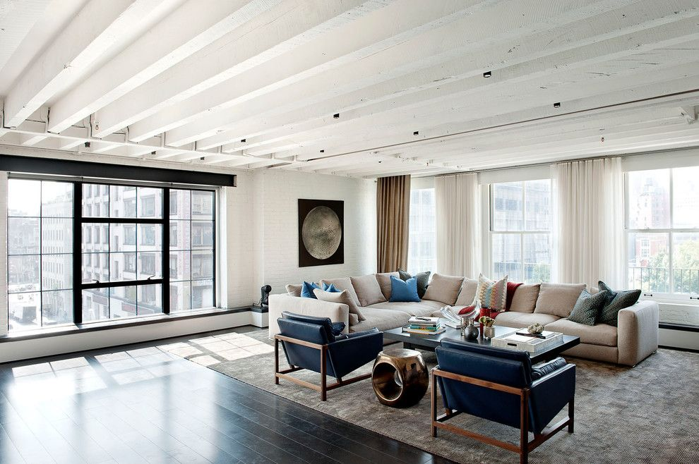 Lowes Howell Nj for a Industrial Living Room with a Beige and Laight Street Loft by David Howell Design