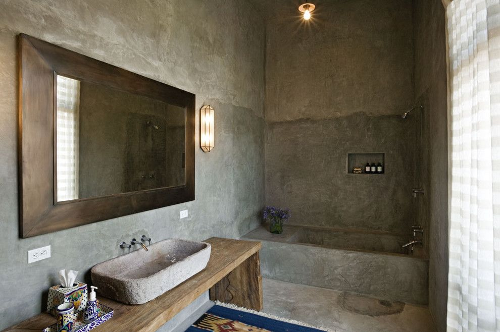 Lowes Howell Nj for a Mediterranean Bathroom with a Bathroom Lighting and Mexico House by David Howell Design