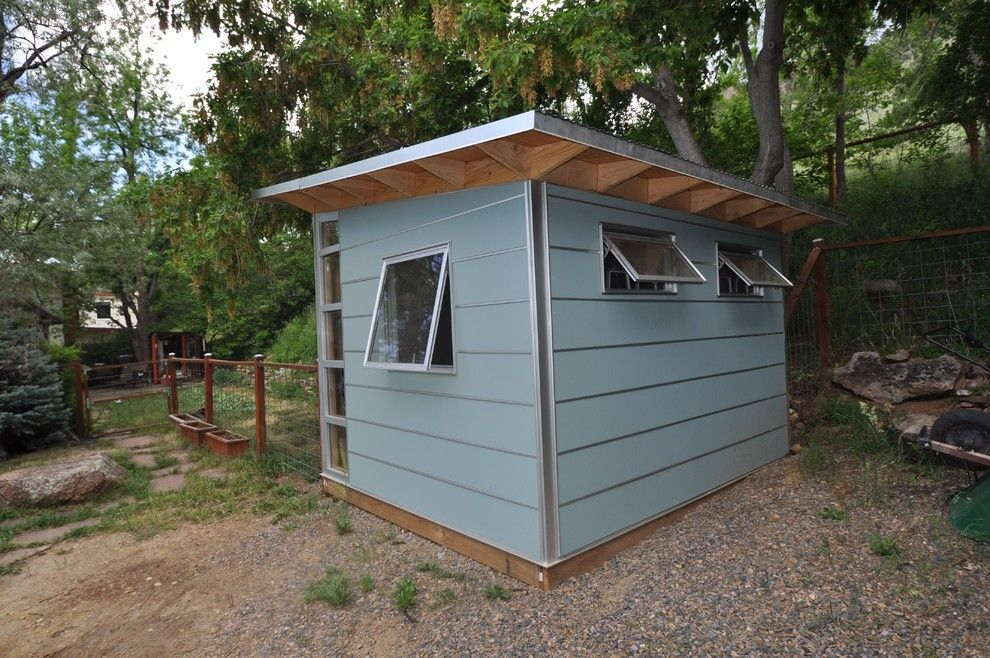 Lowes Lafayette La for a Contemporary Shed with a Backyard Shed and Beautiful Blue Storage: Collins Plank 8x10 by Studio Shed