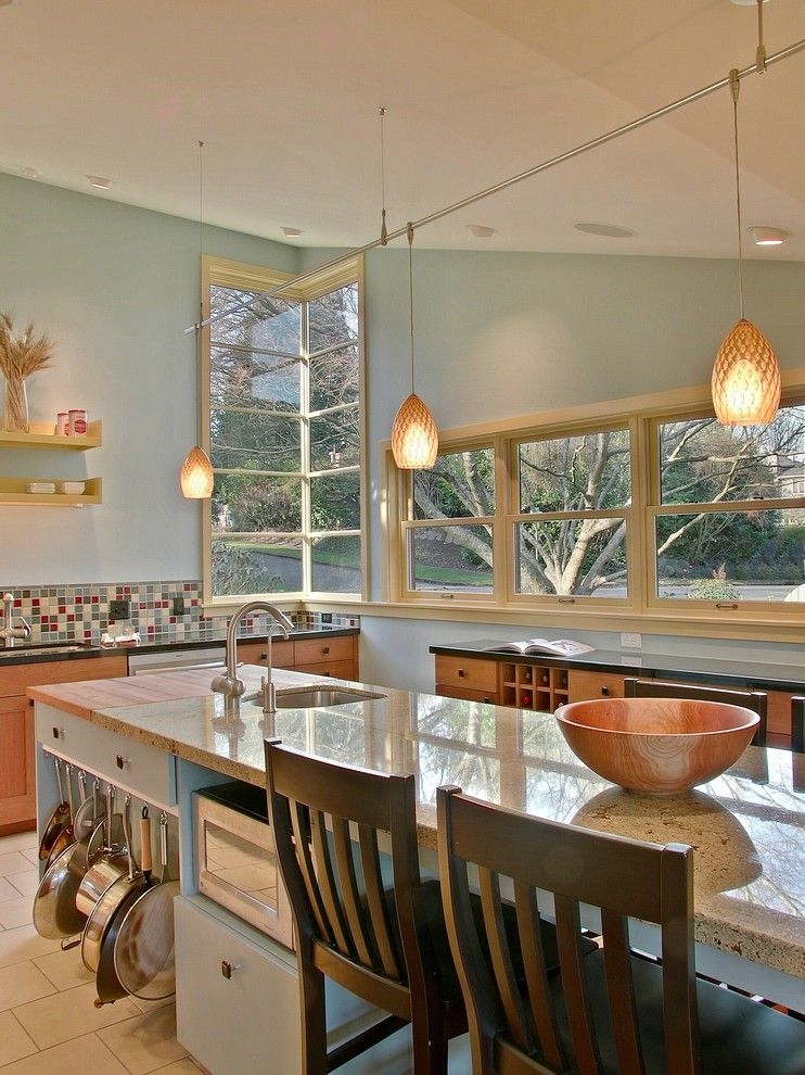 Lowes Lansing Mi for a Contemporary Kitchen with a Microwave Shelf and Weyand Residence by Neiman Taber Architects