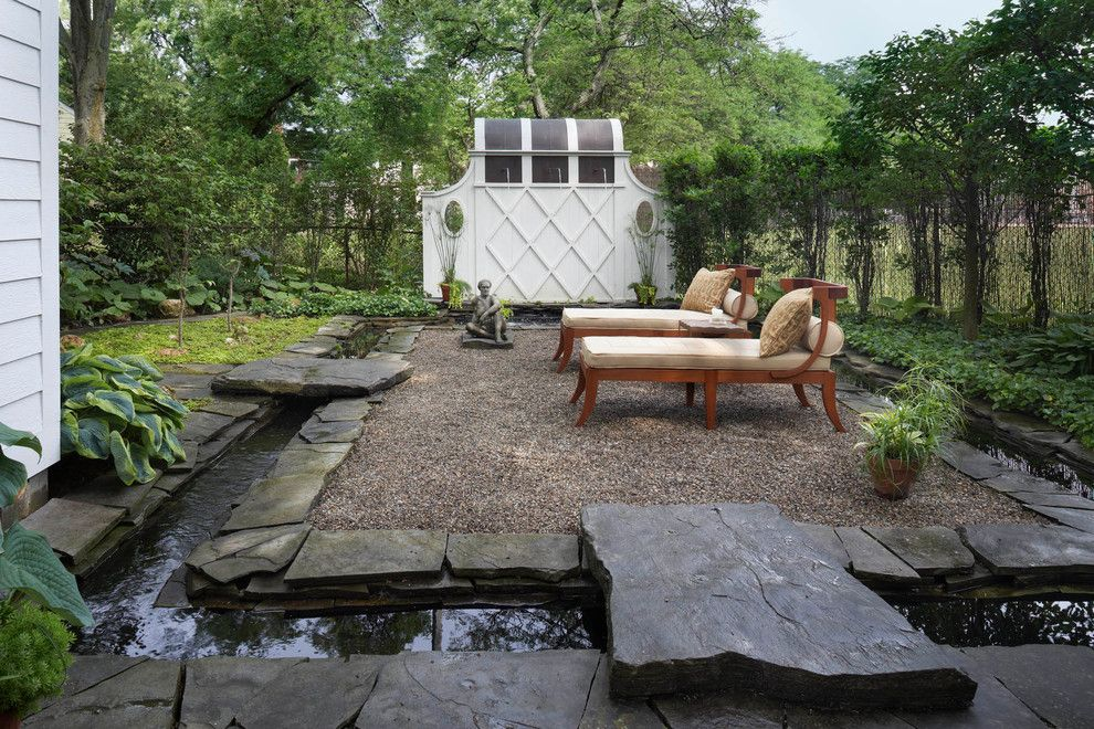 Lowes Lansing Mi for a Traditional Patio with a Koi Pond and Birmingham, Mi Private Garden by Art | Harrison Interiors & Collection