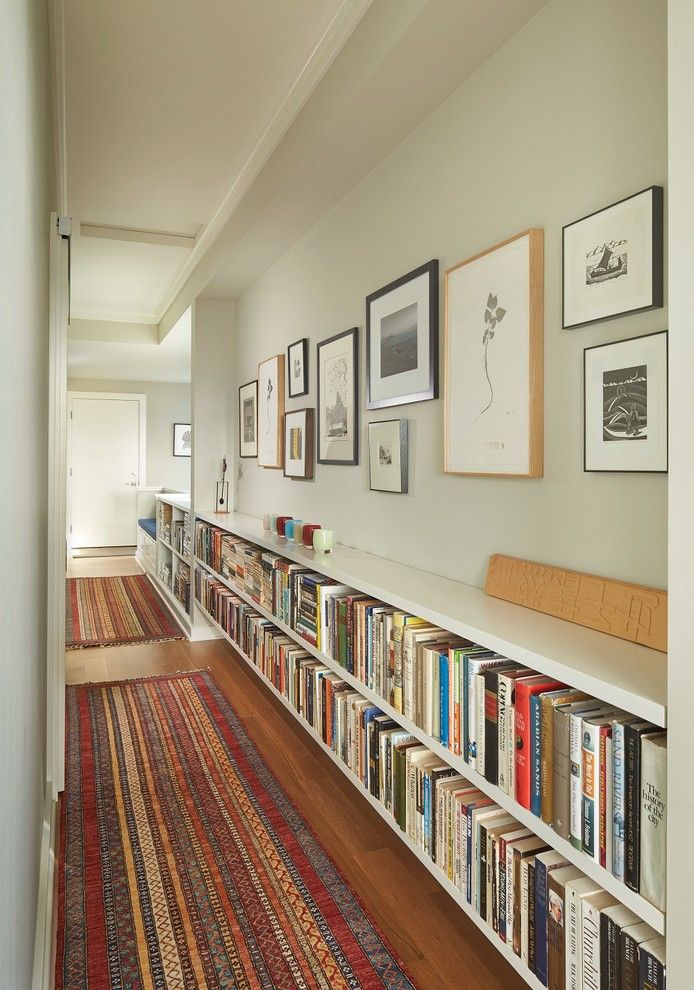 Lowes Lansing Mi for a Transitional Hall with a Gallery Wall and Queen Anne View by Rohleder Borges Architecture