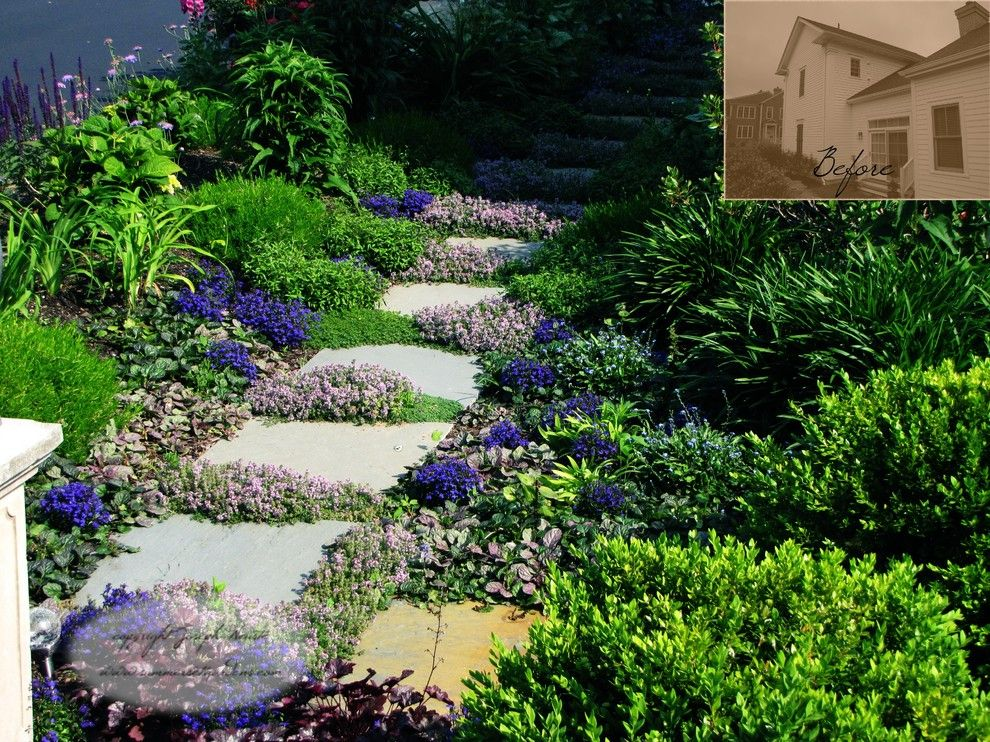 Lowes Marlboro Nj for a Traditional Landscape with a Back Yard Landscaping and Garden Path by Summerset Gardens/joe Weuste
