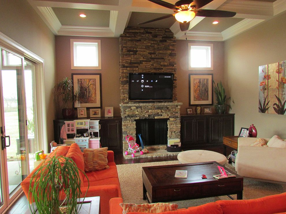 Lowes Morehead Ky for a Transitional Living Room with a Lexington and Burr Oak by Lowe's of South Lexington, KY
