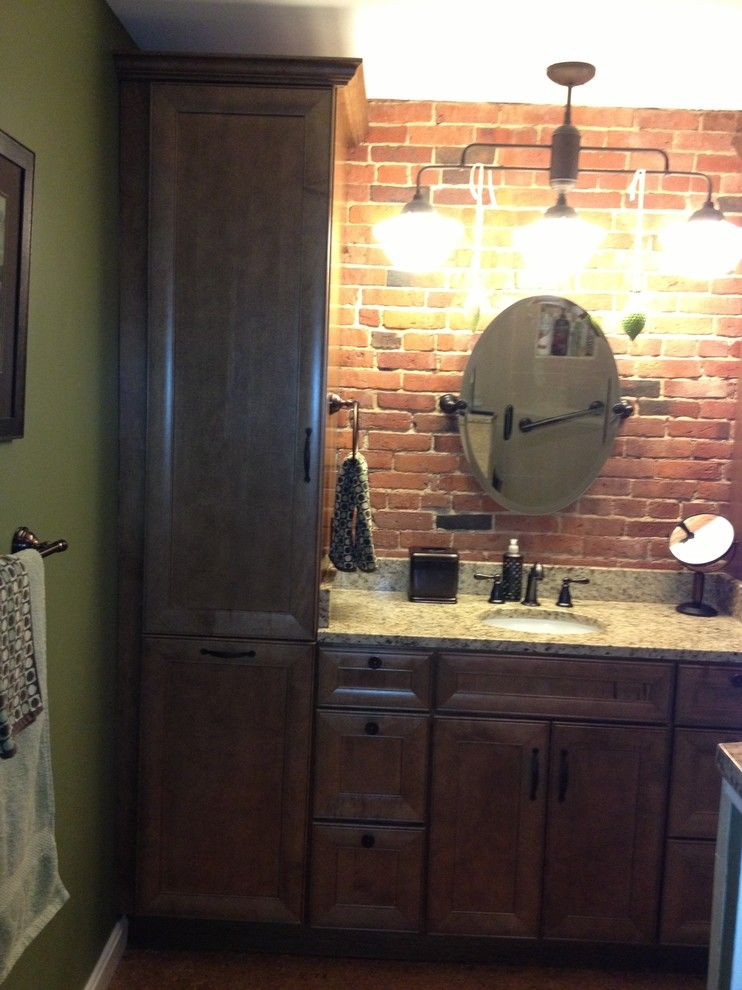 Lowes Nashua Nh for a Rustic Spaces with a Custom and Old Mill Bathroom by Lowes of Epping Nh