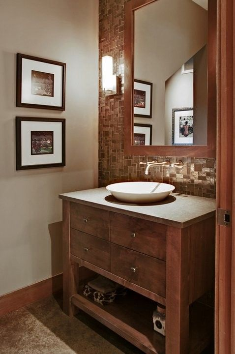 Lowes Oceanside for a Contemporary Powder Room with a Mirror Frame and Powder Room by Artifact Interior Design