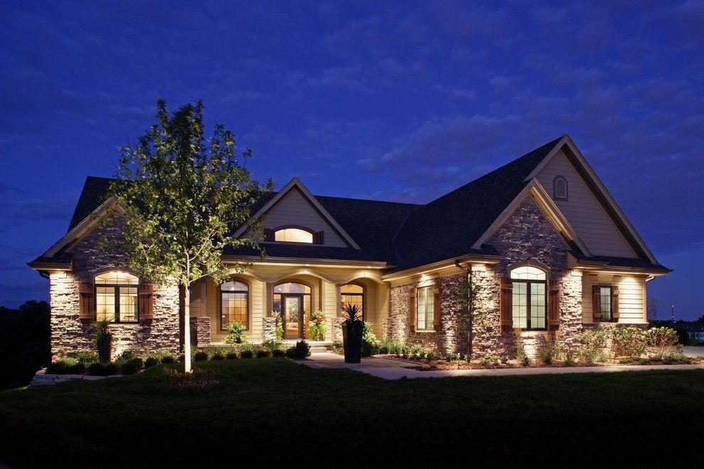 Lowes Omaha for a Traditional Exterior with a Landscaping and Exteriors by Mckay Landscape Lighting