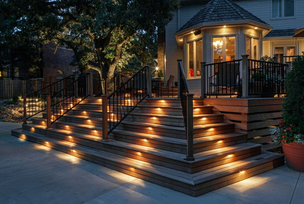 Lowes Omaha for a Traditional Patio with a Safety Lighting and Private Residence by Andrew J Coleman