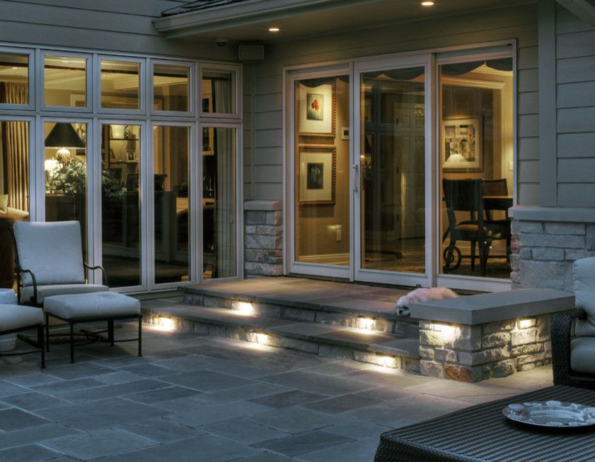 Lowes Omaha For A Traditional Patio With A Wall Lighting And Deck