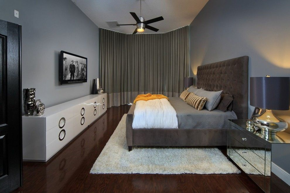 Lowes Orlando for a Contemporary Bedroom with a Gray Walls and Richmond Grand by Morrone Interiors