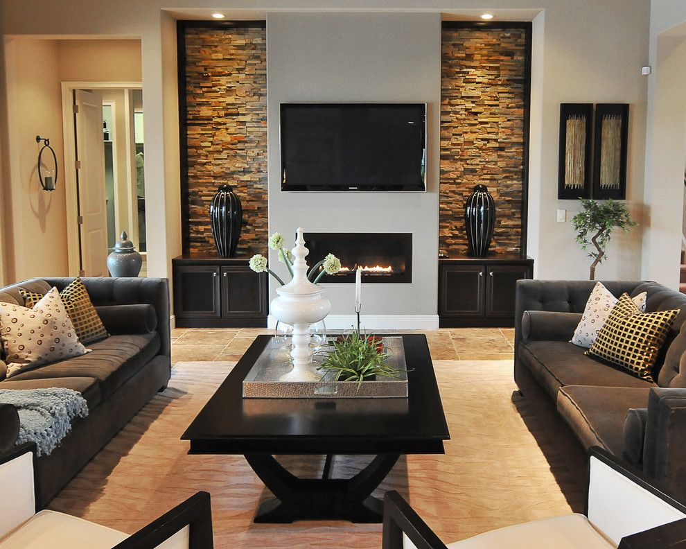 Lowes Orlando for a Contemporary Living Room with a Gas Fireplace and Portfolio by Studio Kw Photography