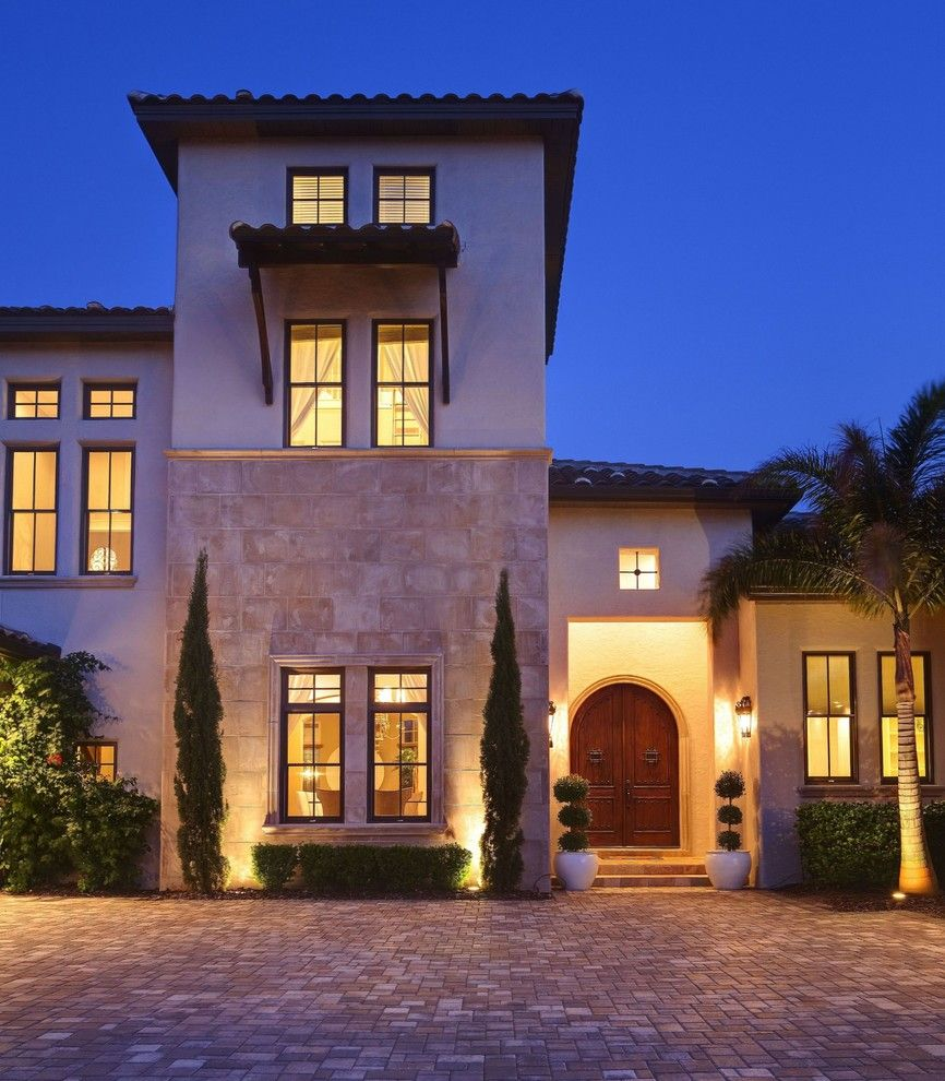 Lowes Orlando for a Mediterranean Exterior with a Interior Design and Addison Misner Inspired Front Elevation by Sunscape Homes, Inc