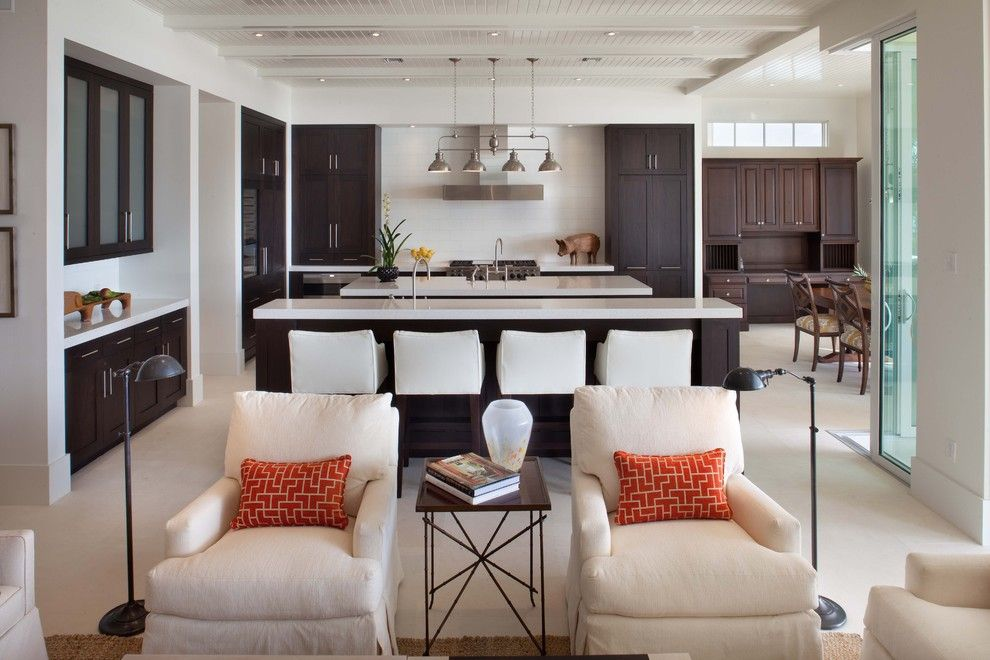 Lowes Orlando for a Tropical Kitchen with a White Walls and La Belle by Phil Kean Design Group