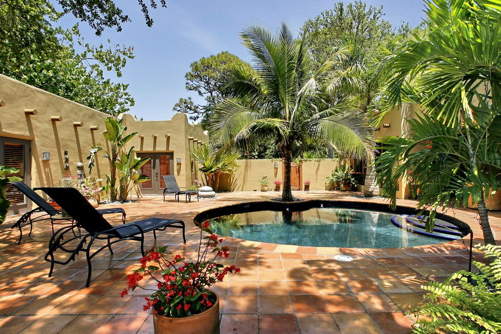 Lowes Palm Desert for a Eclectic Pool with a Outdoor Chaise Lounge and Siesta Key Santa Fe by Mgb Fine Custom Homes
