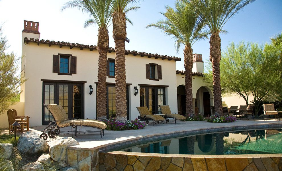 Lowes Palm Desert for a Mediterranean Exterior with a Flagstone and Rancho Mirage Villas by Sennikoff Architects, Inc.