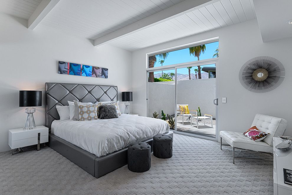 Lowes Palm Desert for a Midcentury Bedroom with a Clerestory Window and Hidden Desert South by H3k Design